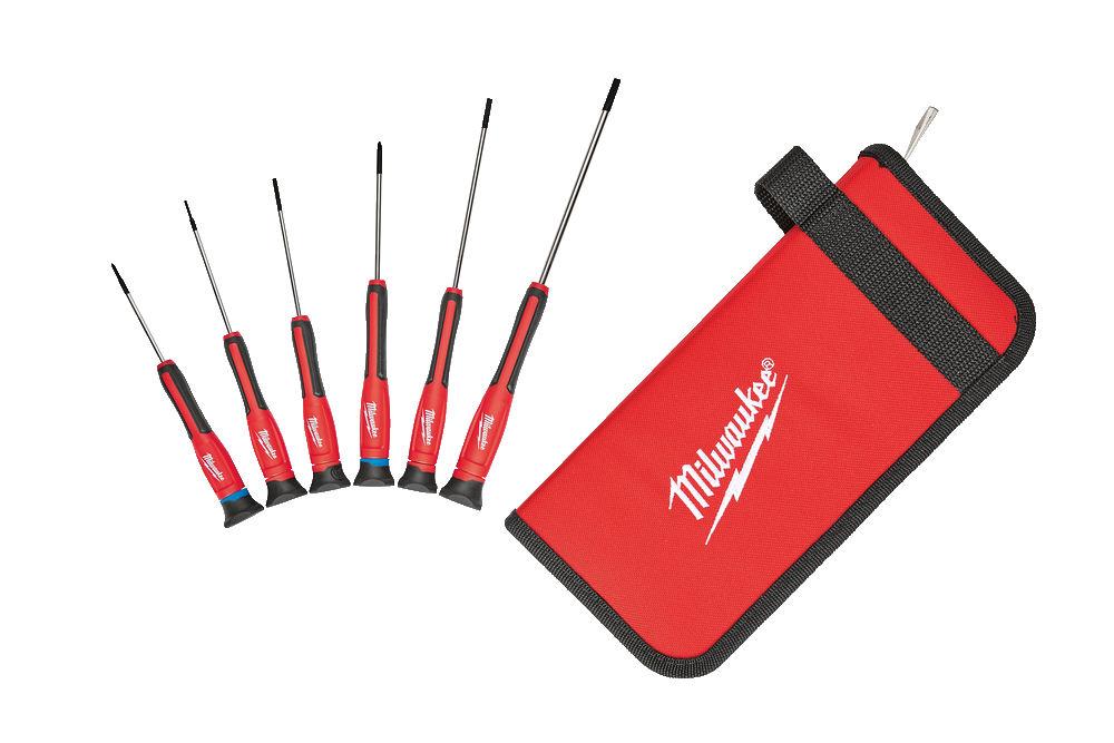 Milwaukee 6pc Precision Screwdriver Set - 4932471869