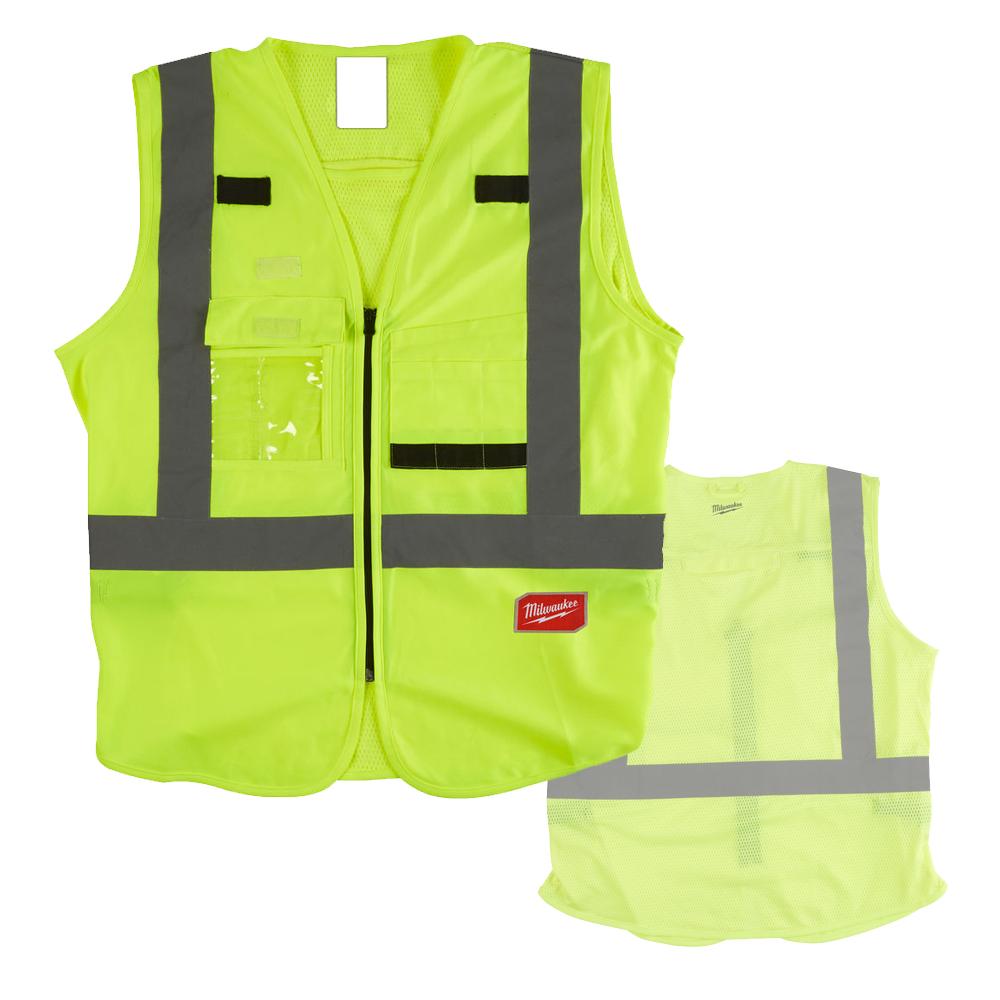 Milwaukee Hi-Visibility Vest - Yellow - L/XL - 4932471890