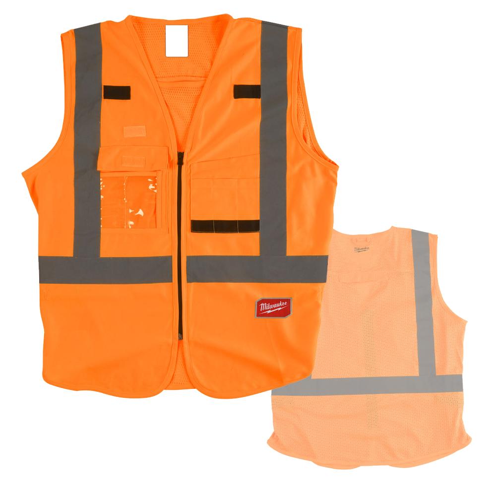 Milwaukee Hi-Visibility Vest - Orange - L/XL - 4932471893