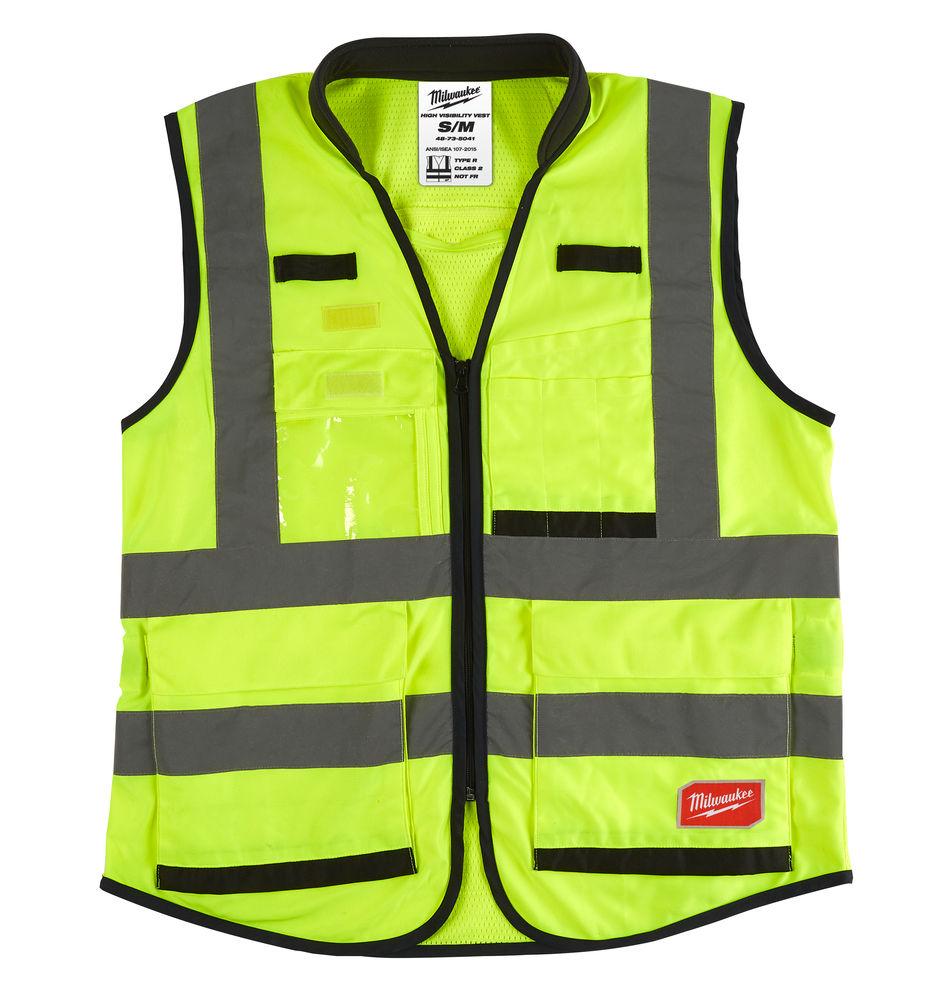 Milwaukee Premium Hi-Visibility Vest - Yellow - S/M - 4932471895