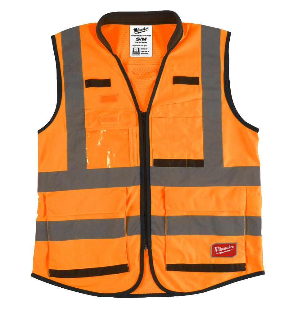 Milwaukee Premium Hi-Visibility Vest - Orange - S/M - 4932471898