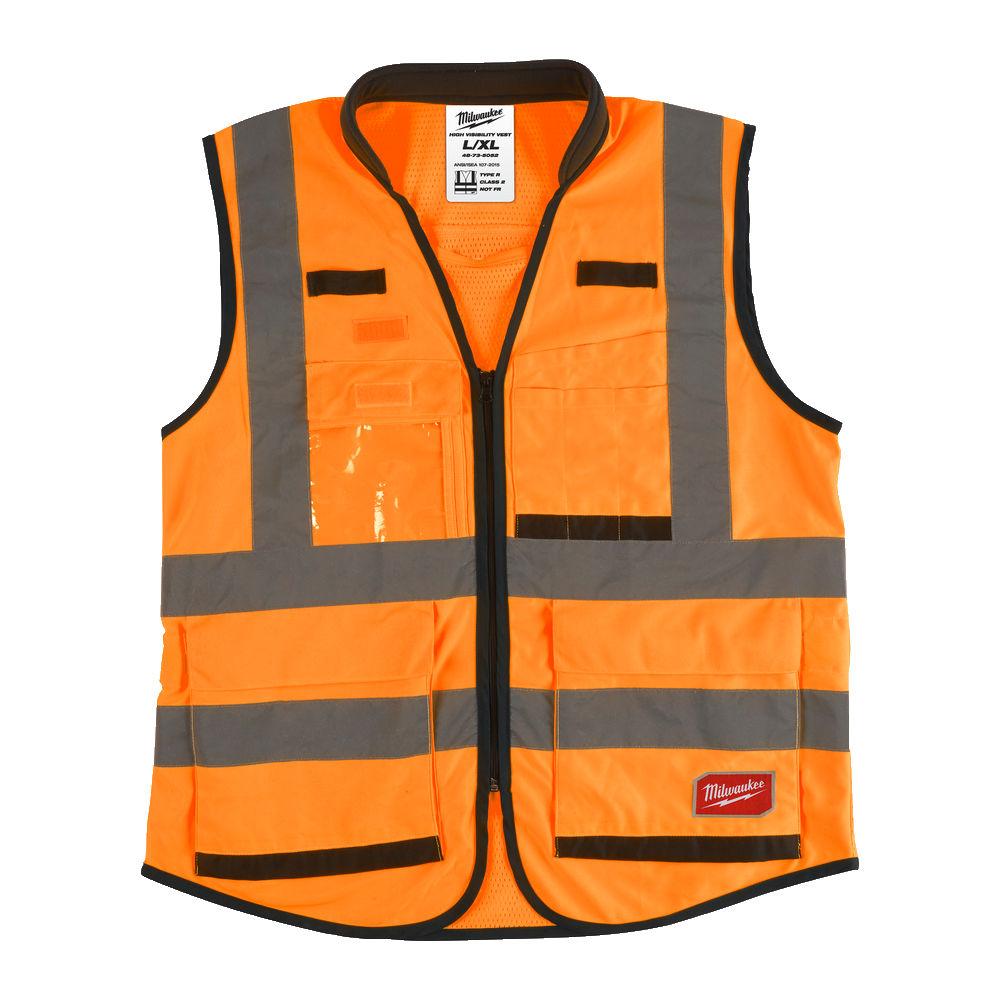 Milwaukee Premium Hi-Visibility Vest - Orange - L/XL - 4932471899