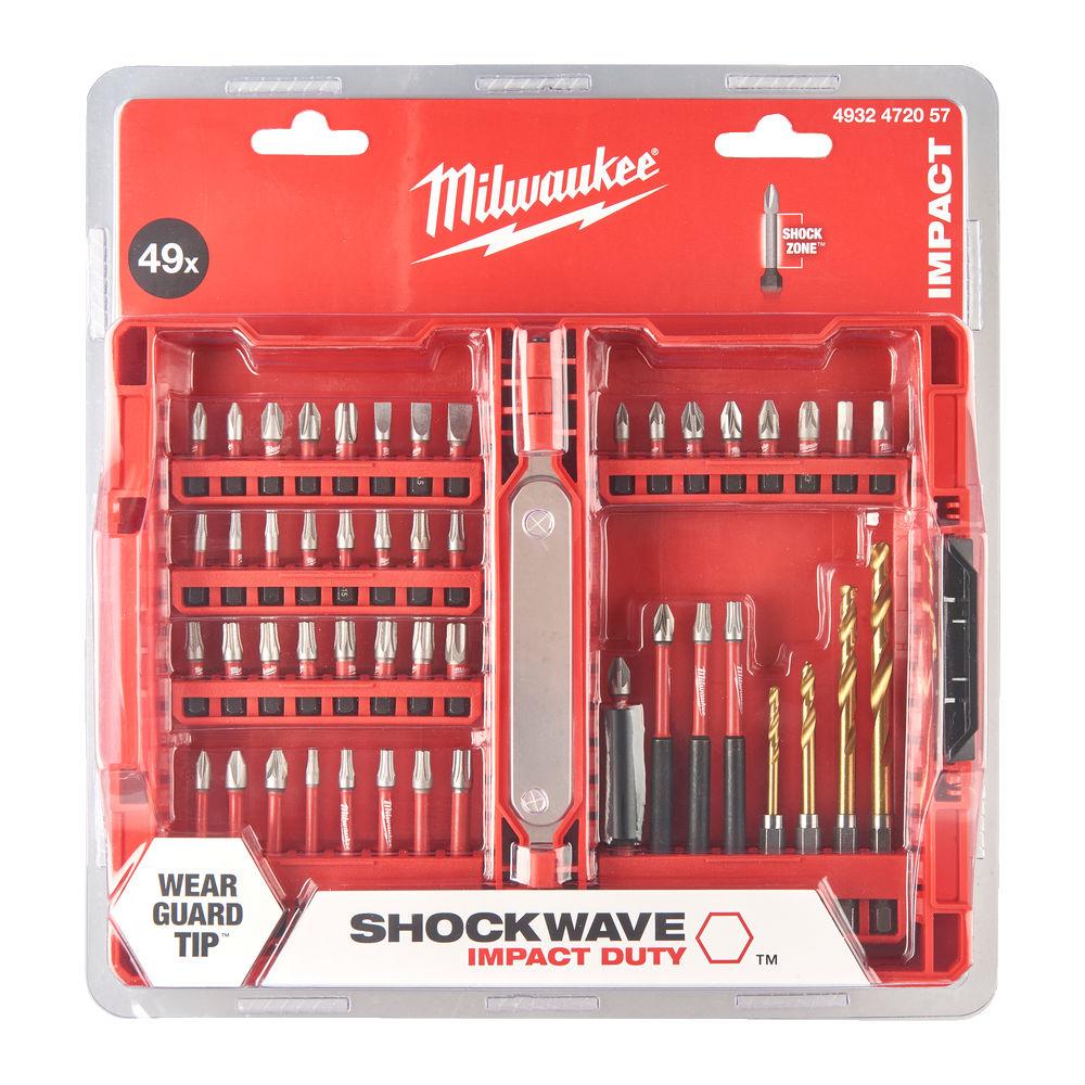 Milwaukee Shockwave Gen 3 Screwdriver Bit Set 49 Piece - 4932472057
