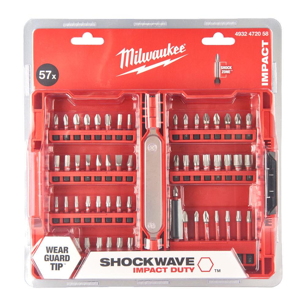 Milwaukee Shockwave Gen 3 Screwdriver Bit Set 57 Piece - 4932472058