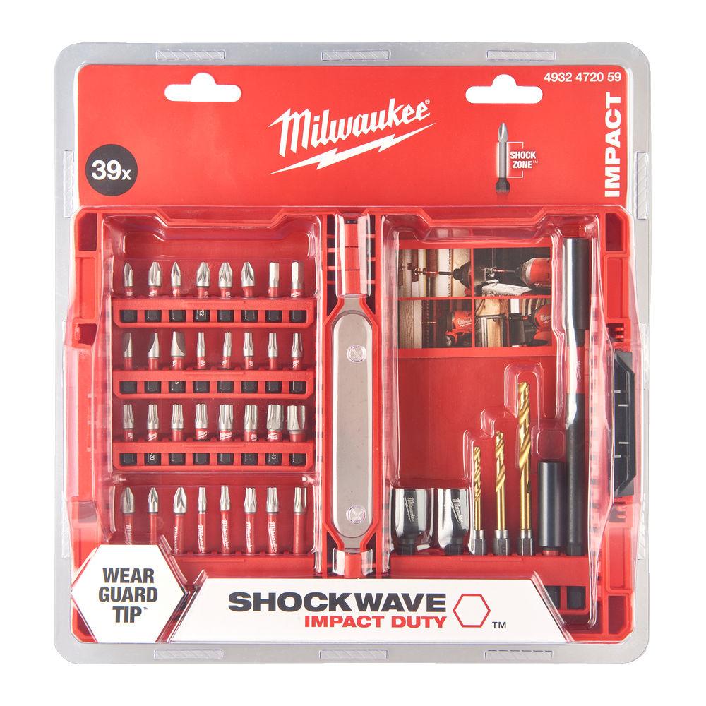 Milwaukee Shockwave Gen 3 Screwdriver Bit Set 39 Piece - 4932472059