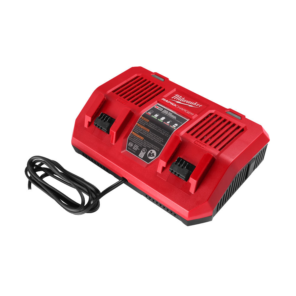Milwaukee M18DFC 18V Dual Bay Rapid Charger 240V (Charges 2 batteries at the same time)
