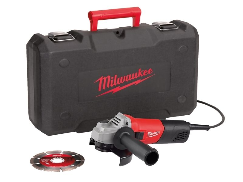 MILWAUKEE 115MM ANGLE GRINDER & CASE - AG800-115ED-SET - 240V - 4933451216
