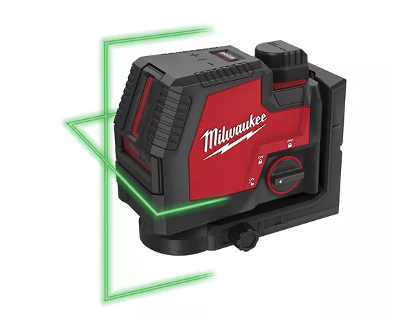 MILWAUKEE RED-LITHIUM USB GREEN CROSS LINE LASER - L4CLL-301C