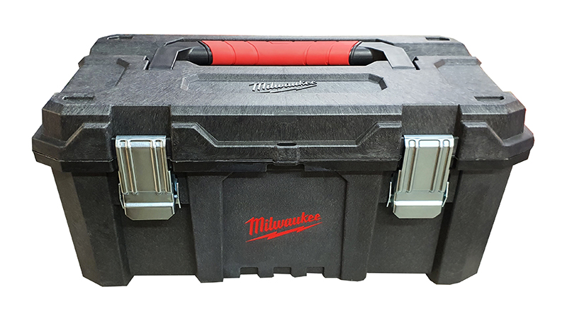 """MILWAUKEE HEAVY-DUTY SITE TOOLBOX 21"""" & METAL LATCHES + TOTE TRAY - 4939698511"""
