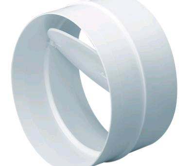 Domus Easipipe 100 Round Rigid Ducting 100mm Connector With Damper