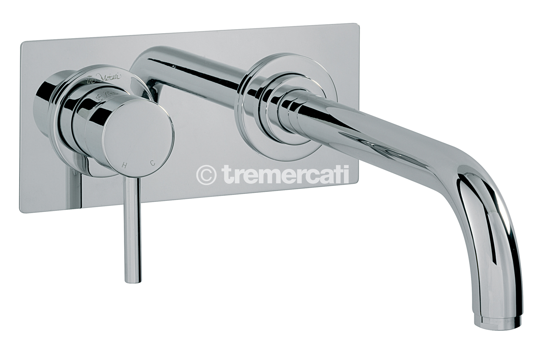 TRE MERCATI MILAN 2 HOLE WALL MOUNTED BATH FILLER - CHROME PLATED