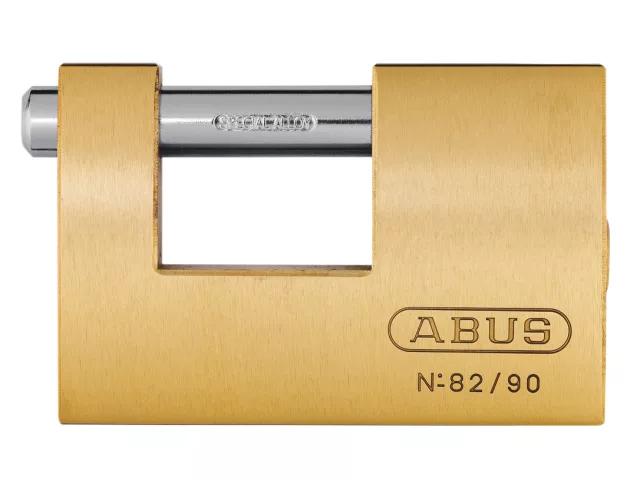 ABUS 80/90MM MONOBLOCK BRASS SHUTTER PADLOCK