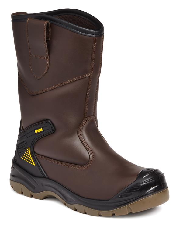 Apache AP305 Water Resistant Rigger Safety Boots Brown - Size 10