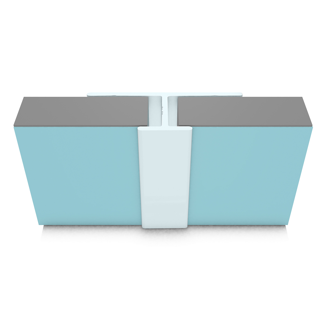 Multipanel Reflect Range - Type 16 Mid Joint - Aqua - 2.45 Metre - MRFCHAQU