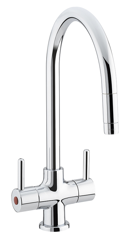 BRISTAN BEELINE SINK MIXER WITH PULL OUT NOZZLE CHROME