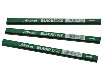 REXEL BLACKEDGE CARPENTERS PENCILS - GREEN / HARD 34332