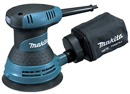 "Makita BO5030 110V 125mm (5"") Random Orbit Sander - Built-In Dust Collection System"