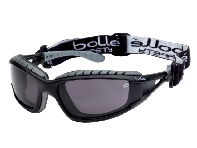 BOLLE TRACKER PLATINUM SAFET GOGGLES VENTED SMOKE - TRACPSF