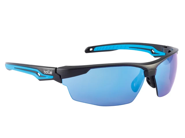 BOLLE TRYON PLATINUM SAFETY GLASSES - BLUE FLASH - TRYOFLASH