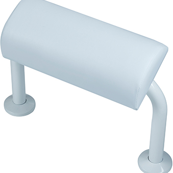 BRISTAN BACK REST RAIL AND PAD WHITE
