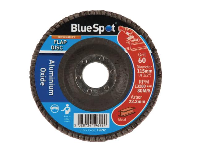 "BLUE SPOT SANDING FLAP DISC 115MM (4.1/2"") 60 GRIT - 19692"