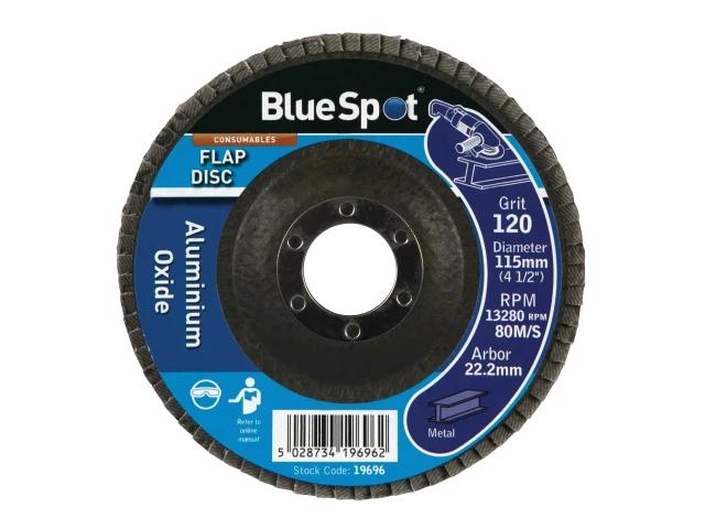 Blue Spot Sanding Flap Disc 115mm (4.1/2In) 120 Grit - 19696