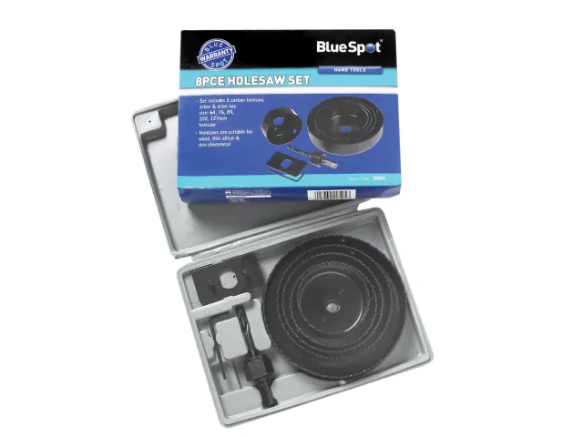 BLUE SPOT MULTI HOLESAW SET - 8PC - 64-127MM - 20505