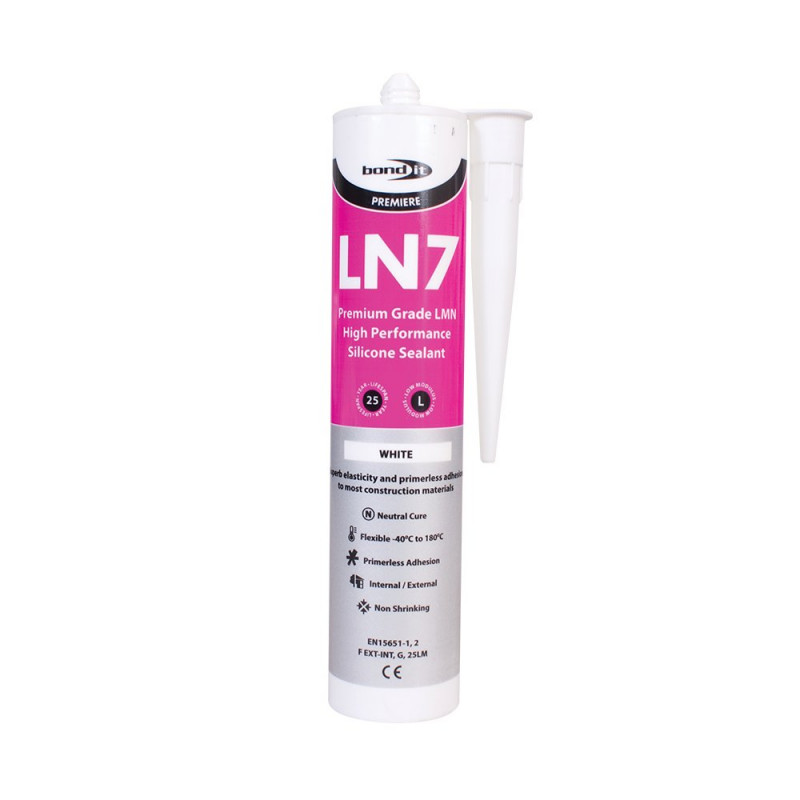 Bond-It LN7 Low Modulus Neutral Cure Silicone Sealant EU3 - White