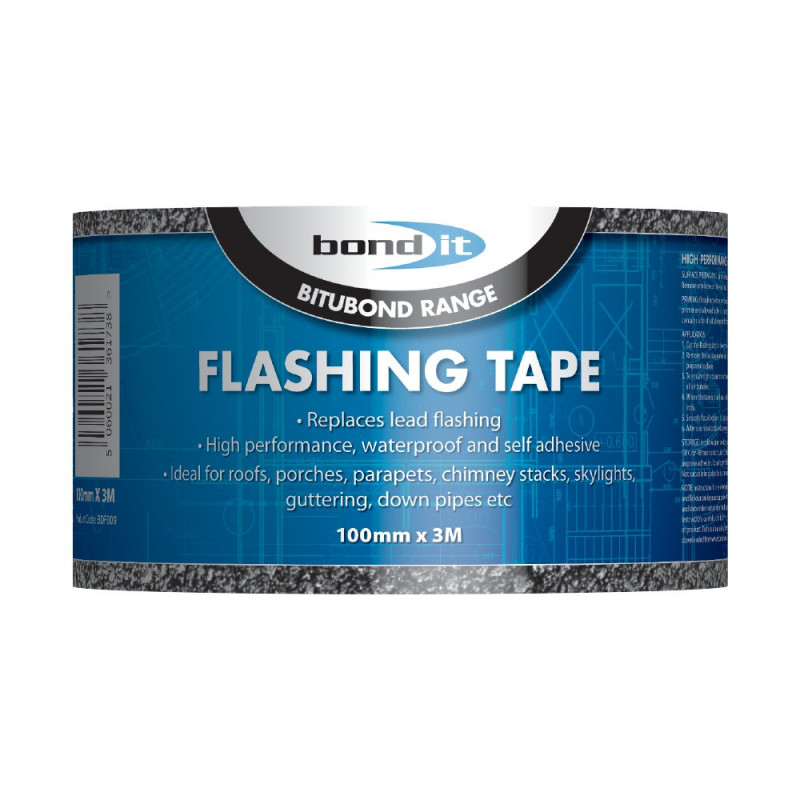 BOND IT FLASH TAPE 100MM X 3M INCLUDING PRIMER BDF009