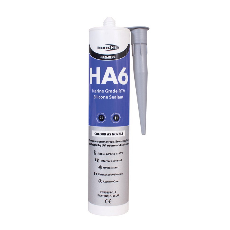 Bond-It HA6 RTV Marine Silicone Sealant Non-Shrinking EU3 - Grey