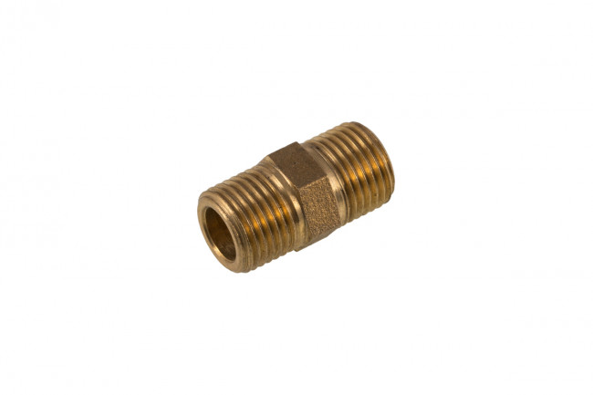 "BRASS NIPPLE 1/8"" BSP HEX"