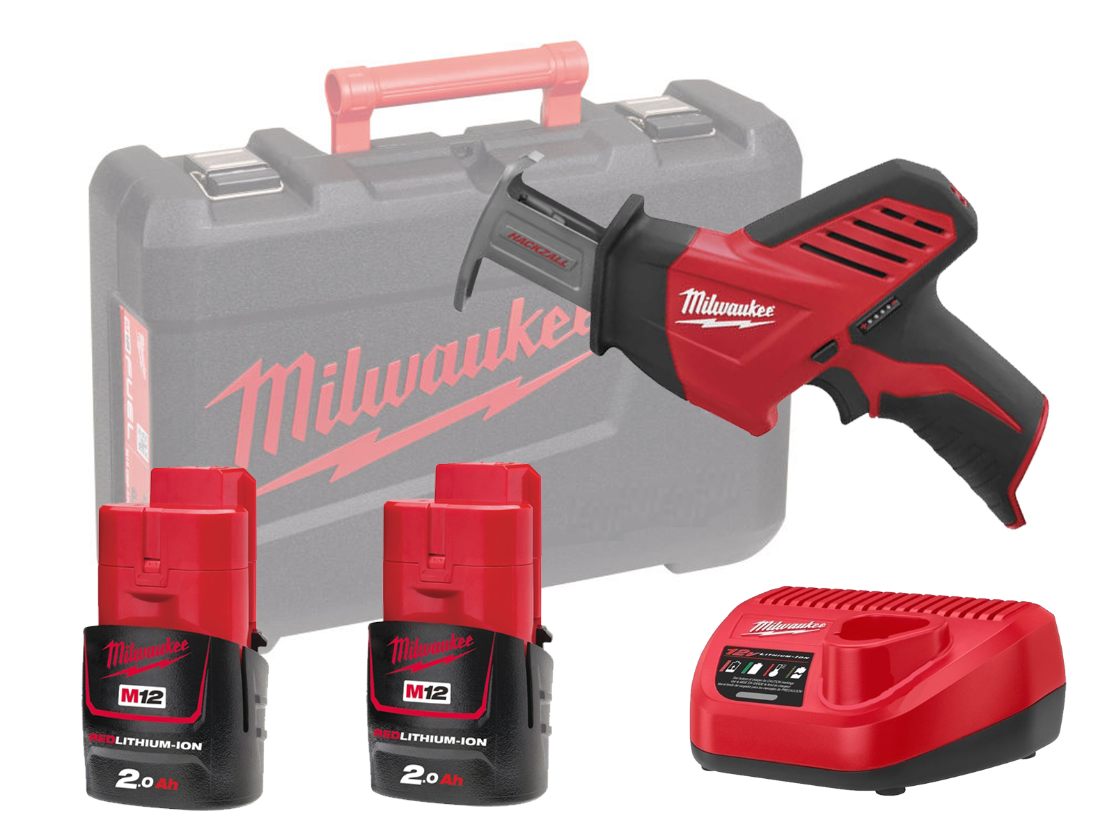 MILWAUKEE 12V COMPACT BRUSHED HACKZALL - C12HZ - 2.0AH PACK