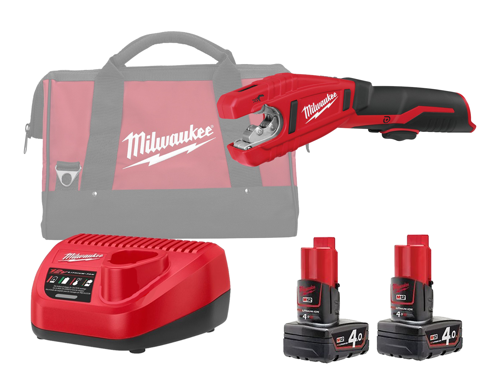 Milwaukee C12PC 12V Sub Compact Copper Pipe Cutter 12mm to 28mm - 4.0Ah Pack