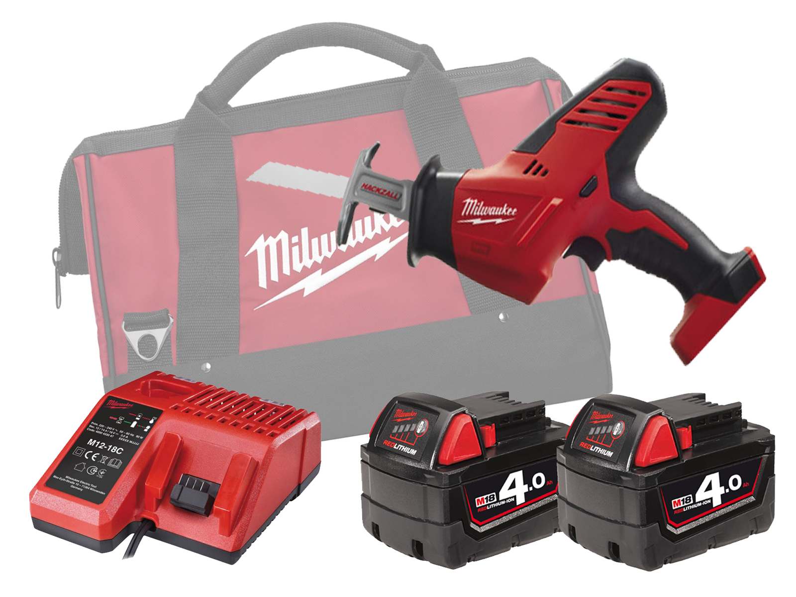 MILWAUKEE 18V BRUSHED COMPACT HACKZALL - C18HZ - 4.0AH PACK