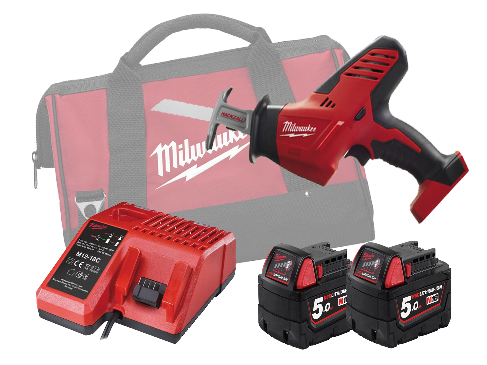 MILWAUKEE 18V BRUSHED COMPACT HACKZALL - C18HZ - 5.0AH PACK