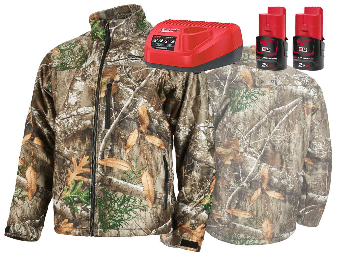 MILWAUKEE 12V CAMOUFLAGE (CAMO) PREMIUM HEATED JACKET - GEN5 - L - 2.0AH PACK
