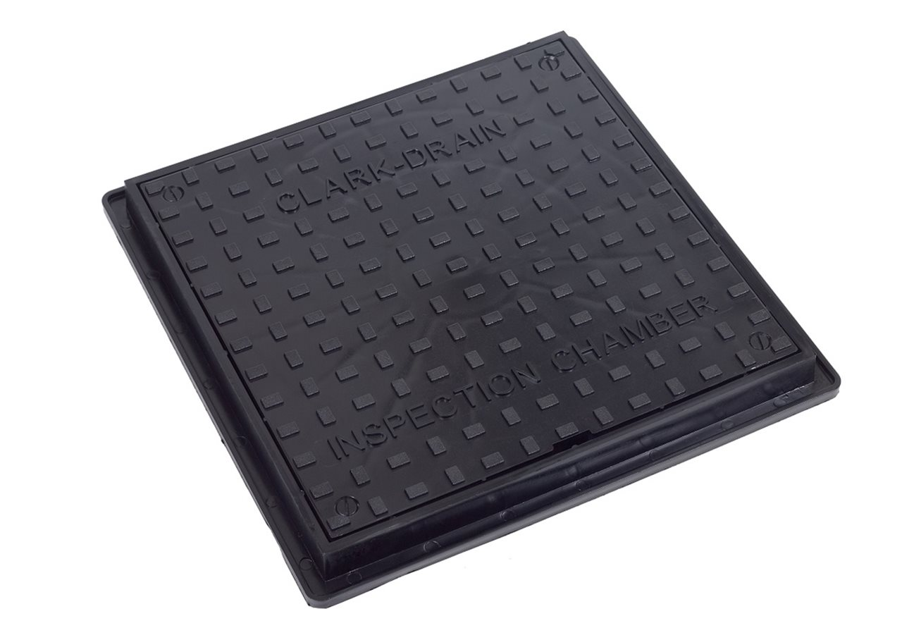 Clark Drain CD300 Solid Top Cover & Frame 300mm Square