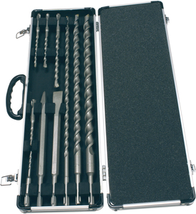 Makita 10 Piece Long SDS-Plug Drill Bits & Chisels in Case - D-21191