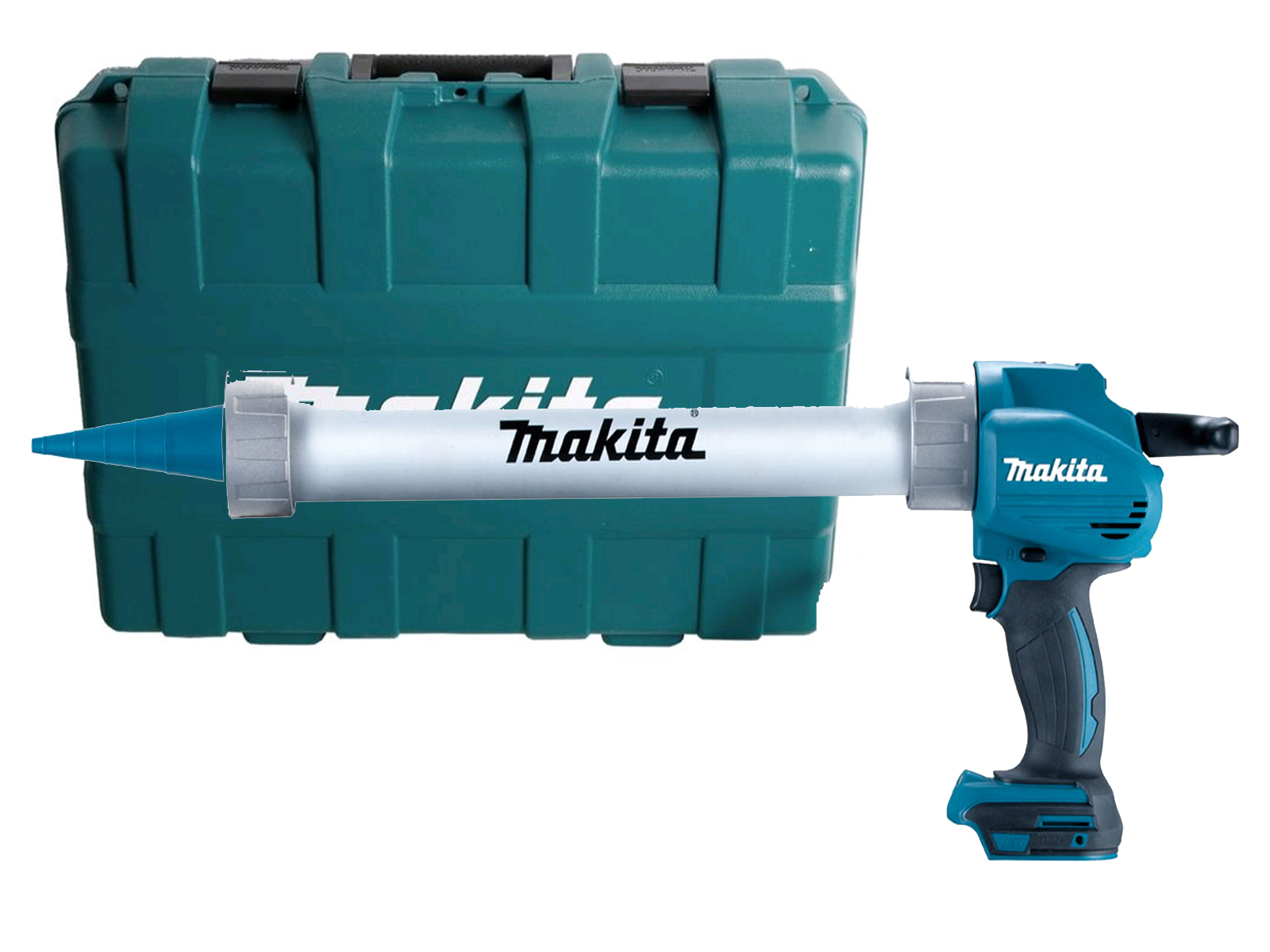 MAKITA 18V 600ML ALUMINIUM CAULKING GUN & CASE - DCG180 - BODY ONLY