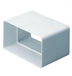 DOMUS RIGID RECTANGULAR DUCTING 110MM X 54MM FLAT CHANNEL CONNECTOR