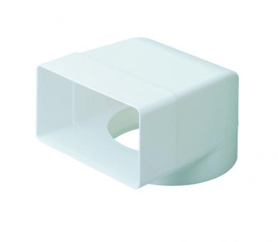 DOMUS RIGID RECTANGULAR DUCTING 110MM X 54MM TO 100MM ROUND SOCKET ADPTOR ELBOW