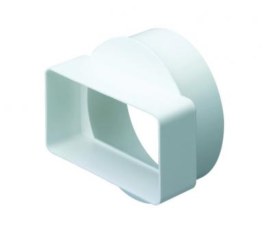 Domus Rigid Rectangular Ducting 110mm x 54mm to 100mm Round Connector