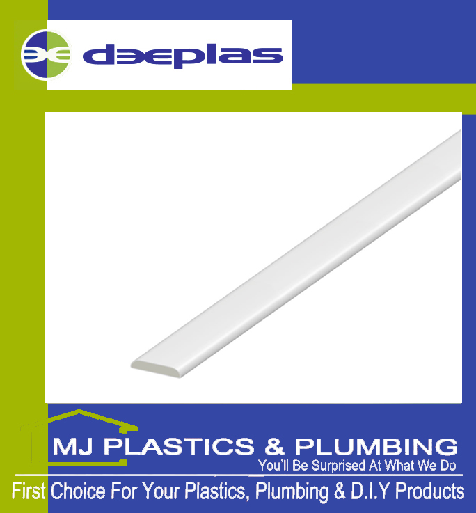 DEEPLAS 25MM 'D' MOULD (025) TRAFFIC WHITE
