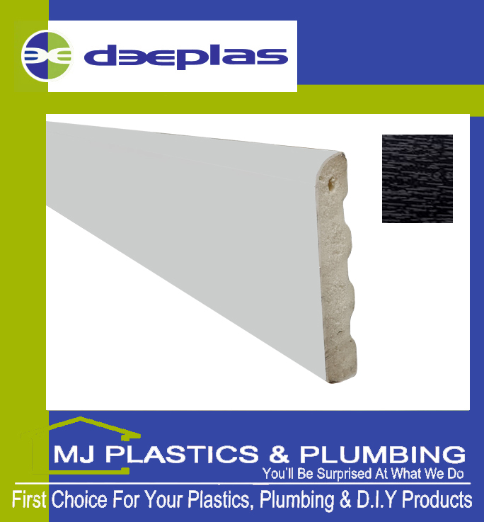 Deeplas Castellated Architrave 40mm x 6mm - Black Ash 1012
