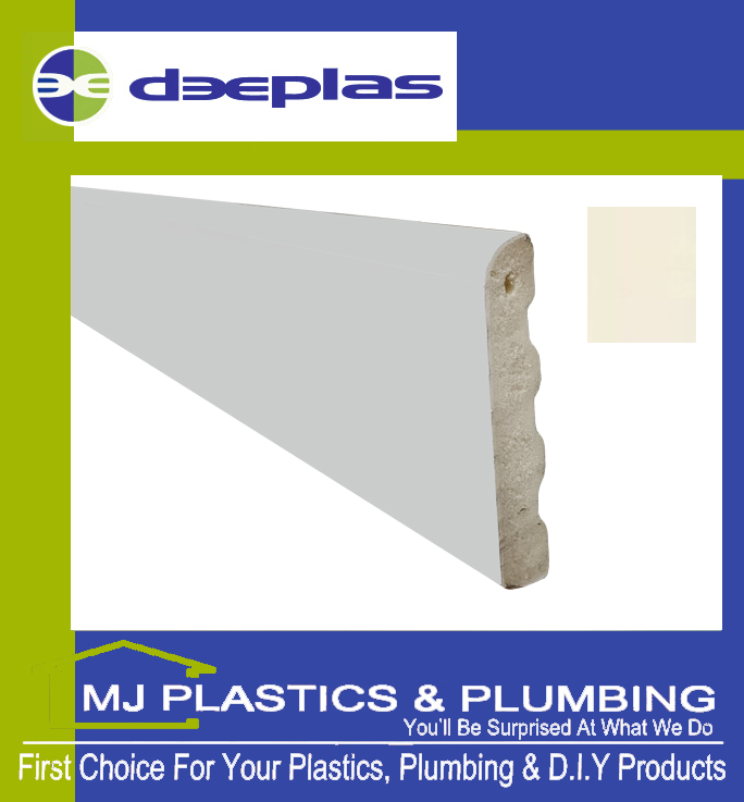 Deeplas Castellated Architrave 40mm x 6mm - Cream 1096