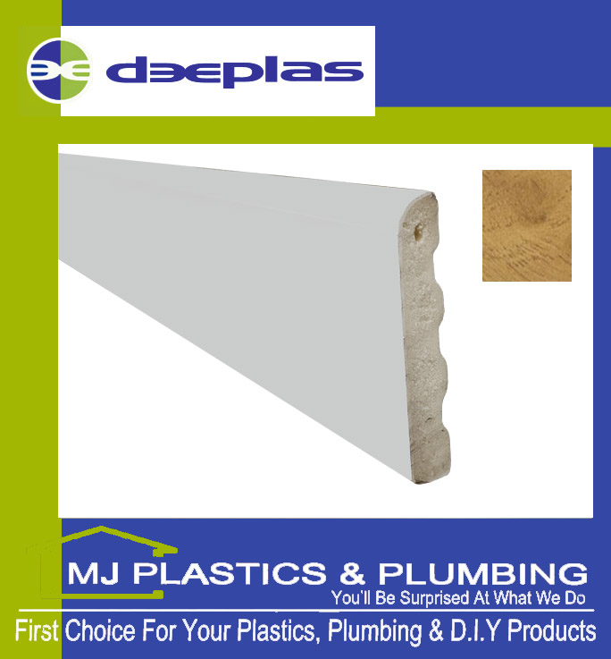 Deeplas Castellated Architrave 40mm x 6mm - Irish Oak 1123