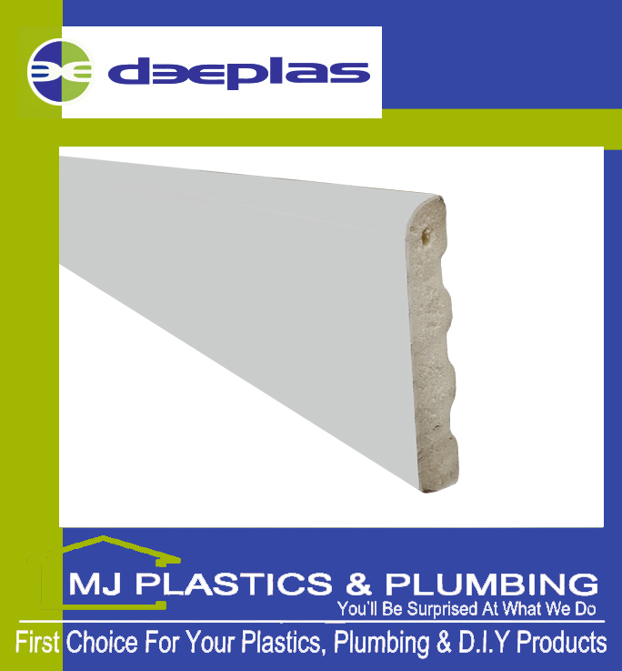 Deeplas Castellated Architrave 40mm x 6mm - Deeplas White 0003