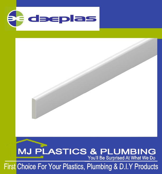 DEEPLAS 45MM BULLNOSE ARCHITRAVE TRAFFIC WHITE