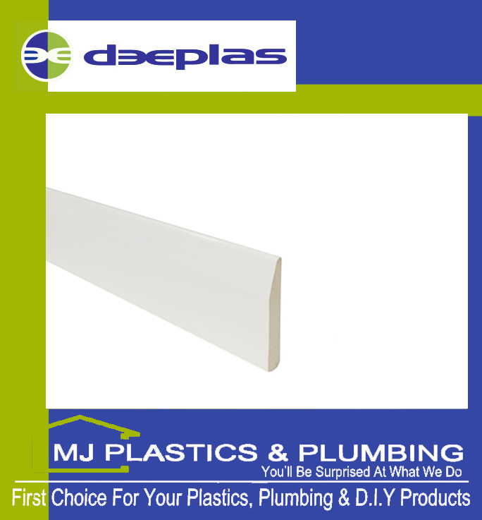 Deeplas Reversible Architrave 65mm x 9mm - Deeplas White 0003