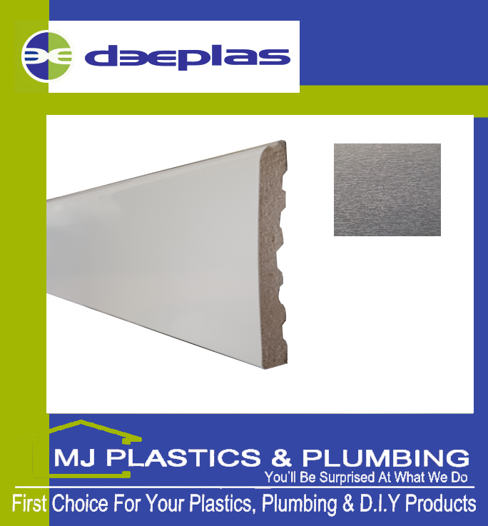 Deeplas Castellated Architrave 90mm x 6mm - Anthracite Grey 1072